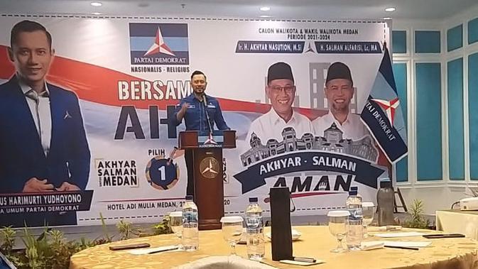AHY Senang dengan Program Akhyar-Salman, Optimis Menang di Pilkada Medan