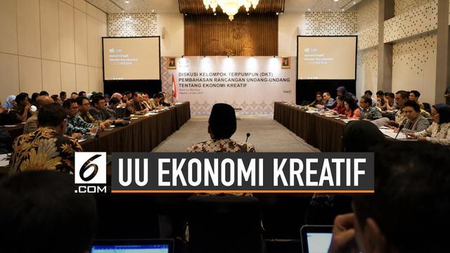 Akan Disahkan, Ini Pentingnya UU Ekonomi Kreatif