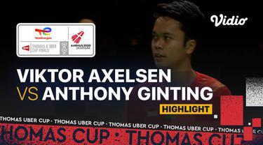 Berita video highlights pertandingan pertama Indonesia vs Denmark di semifinal Piala Thomas 2020, di mana Anthony Ginting menelan kekalahan, Sabtu (16/10/2021) malam hari WIB.