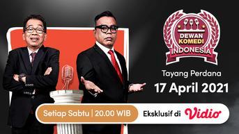 Abdel dan Jarwo Kwat Jadi Pembawa Acara Kocak Dewan Komedi Indonesia, Saksikan di Vidio