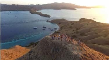 Pemandangan Labuan Bajo dari atas Bukit Cinta (Liputan6.com/Ola Keda)
