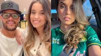 6 Pesona Fanny Istri David da Silva, Bangga Pakai Jersey Persebaya (sumber: Instagram.com/fanpacanaro)