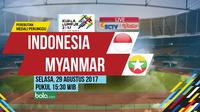 SEA Games 2017 Indonesia Vs Myanmar (Bola.com/Adreanus Titus)
