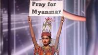 Penampilan Thuzar Wint Lwin dalam Kontes Miss Universe 2020 dengan Kostum China (dok. Instagram @thuzar_wintlwin / https://www.instagram.com/p/CO149SOKN81/?igshid=1u7gydurzhv11 / Dinda Rizky)