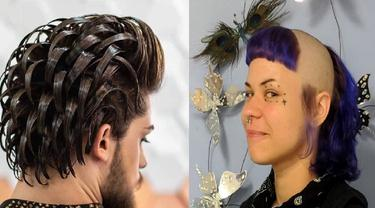 model rambut unik