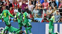Senegal meraih kemenangan 2-1 atas Polandia pada laga perdana Grup H Piala Dunia 2018 yang berlangsung di Stadion Spartak, Selasa (19/6/2018) malam WIB. (AFP/Francesco Leong)