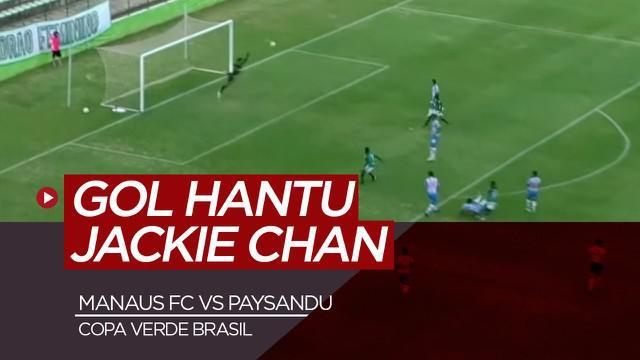 Berita video sebuah gol hantu tercipta di Brasil. Gol itu diciptakan oleh pemain Manaus FC, Jackie Chan.
