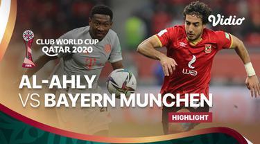 Berita video highlights semifinal Piala Dunia Antarklub 2020 antara Al Ahly melawan Bayern Munchen yang berakhir dengan skor 0-2, di mana Robert Lewandowski menorehkan dua gol tersebut, Selasa (9/2/2021) dinihari WIB.