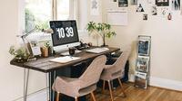 Ilustrasi ruang kerja di rumah. (Shutterstock)