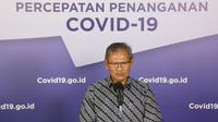 Juru Bicara Pemerintah untuk Penanganan COVID-19 di Indonesia, Achmad Yurianto saat konferensi pers Corona di Graha BNPB, Jakarta, Minggu (31/5/2020). (Dok Badan Nasional Penanggulangan Bencana/BNPB)