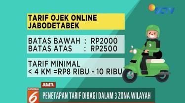 Kemenhub akhirnya menetapkan batas tarif atas dan bawah ojek online. Tarif tersebut berbeda di tiga zona wilayah di Indonesia.