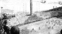 Ilstrasi penampakan UFO di Stadio Artemio Franchi.