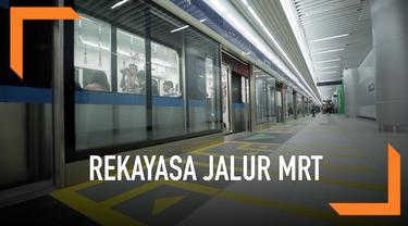 Pada hari ini mulai pukul 13:30 akan diberlakukan rekayasa jalur MRT Jakarta dari stasiun MRT Lebak Bulus Grab dan dari stasiun-stasiun MRT lainnya hanya sampai Stasiun Dukuh Atas BNI.