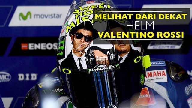 Video melihat lebih jelas helm Valentino Rossi di MotoGP San Marino 2016 beserta deskripsi lengkapnya.