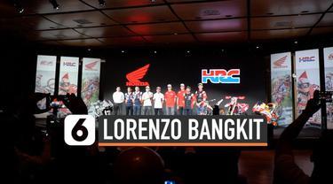 Honda Racing Corporation (HRC) tetap pasang formasi Marc Marquezv-Jorge Lorenzo di MotoGP 2020. Jorge Lorenzo mengaku akan bangkit di ajang MotoGP mendatang.