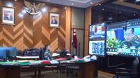 KSAD Andika menghadiri Indo-Pasific Armies Management Seminar (IPAMS) ke-44 dan Senior Enlisted Leader Forum (SELF) ke-6 yang berlangsung pada 17 dan 18 November secara virtual. (YouTube TNI AD)