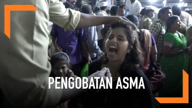 Ribua warga datang ke Hyderabad, Andhra Pradesh untuk mendapatkan terapi pengobatan asma yang tak biasa. Mereka menelan ikan hidup dan bumbu rahasia berupa pasta.