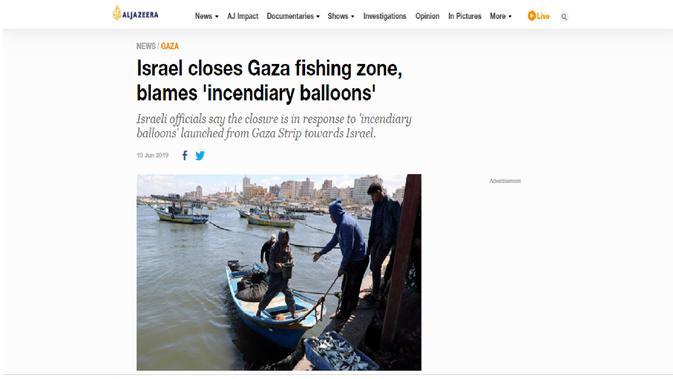 Cek Fakta - Artikel Israel larang warga Gaza memancing ikan.