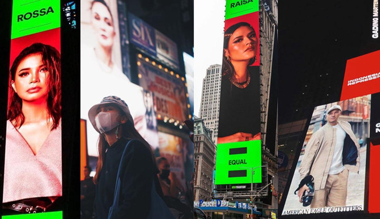 Persimpangan Times Square adalah jantung kota New York, Amerika Serikat. Tempat tersebut tak pernah sepi dengan orang berlalu lalang. Selain gedung, terdapat papan iklan digital (billboard) di kawasan tersebut. Berikut artis Indonesia yang pernah terpampang.(dok. Instagram)