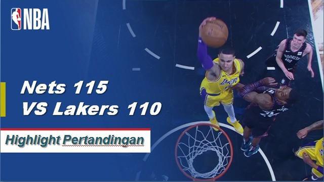 D'Angelo Russell memimpin jalan untuk Brooklyn dengan mencetak 22 poin untuk pergi bersama dengan 13 assist saat Nets mendapatkan kemenangan atas Lakers, 115-110.