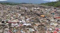 Gunungan sampah di TPA Supit Urang Kota Malang (Zainul Arifin/Liputan6.com)
