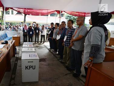 Warga Tanah Abang Ikuti Simulasi Pemilu 2019