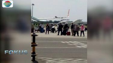 Insiden senggolan Lion Air dan Wings Air ini tidak memakan korban jiwa dan tidak menyebabkan gangguan jadwal penerbangan.