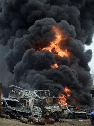 Kebakaran di Lagos.