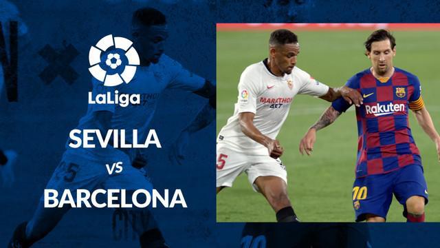 Berita motion grafis statistik Sevilla vs Barcelona pada lanjutan La Liga 2019-2020 pekan ke-30, Sabtu (20/6/2020).