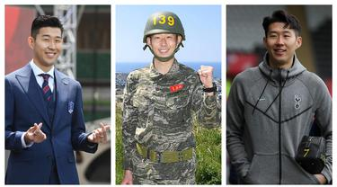 Kumpulan foto-foto saat pemain asal Korea Selatan, Son Heung-Min saat tak memakai jersey Tottenham Hotspur. (Foto: AP & AFP)