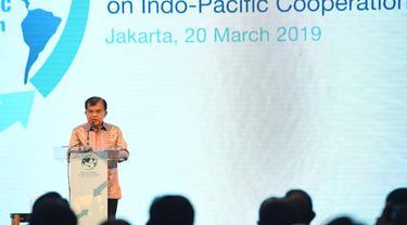 Wakil Presiden RI Jusuf Kalla membuka dialog tingkat tinggi Indo Pasifik di Jakarta, Rabu 20 Maret 2019 (kredit: Kemlu RI)