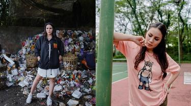 Tampil Modis, Ini 6 Gaya Momo Geisha Lakukan Pemotretan di Tempat Tak Biasa