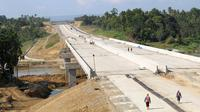 PT Hutama Karya (Persero) terus mengebut proyek Jalan Tol Trans Sumatera ruas Sigli-Banda Aceh (Sibanceh). (Dok Hutama Karya)