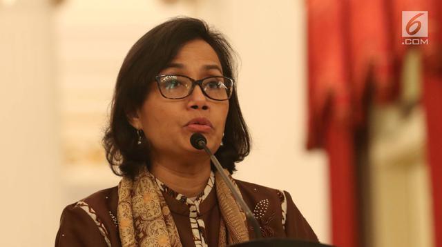 Menteri Keuangan (Menkeu) Sri Mulyani saat memberi keterangan di Istana Negara, Jakarta, Rabu (23/5). (Liputan6.com/Angga Yuniar)