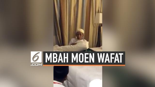 Kabar duka datang dari tanah suci Makkah, tokoh Nahdlatul UIama Kyai Haji Maimun Zubari alias Mbah Moen hembuskan napas terakhir hari Selasa (08/08/19) pagi.