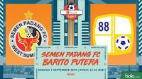 Shopee Liga 1 - Semen Padang FC Vs Barito Putera (Bola.com/Adreanus Titus)