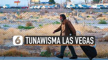 Para tunawisma di Las Vegas, Amerika Serikat, mulai merasakan dampak wabah COVID-19. Mereka dipindah setelah sebelumnya ditemukan satu kasus yang menjangkiti pria di penampungan.