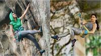 Seleb Wanita yang Suka Olahraga Panjat Tebing. (Sumber: Instagram/@babymargaretha1 dan Instagram/prisia)