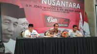 Ruhut Sitompul saat menghadiri Obrolan Barnus (Barisan Nusantara ), relawan Jokowi-Maruf pimpinan Nurdin Tampubolon. (Istimewa)