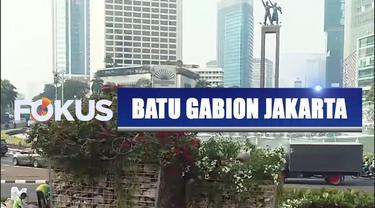 Pemprov DKI Jakarta kini menghadirkan instalasi batu gabion sebagai pengganti bambu getah getih di kawasan Bundaran Hotel Indonesia.