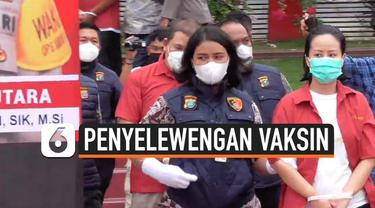 Polda Sumut membongkar komplotan penyelewengan vaksin Covid-19. Para pelaku memperjual belikan vaksin yang seharusnya untuk tahanan dan narapidana di LP Tanjung Gusta Medan.