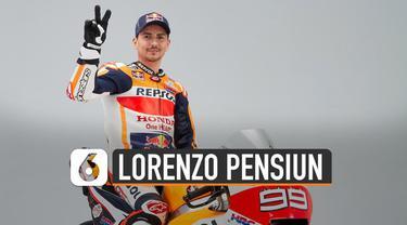 Jorge Lorenzo putuskan pensiun dari MotoGP di usia 32 tahun. Di musim terakhir, ia mengalami nasib kurang baik.