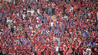 Penonton Asian Games 2018. (ANTARA FOTO/INASGOC/Dhemas Reviyanto/Sup/18)