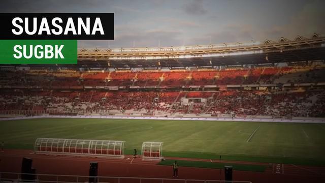 Berita video laporan dengan vlog suasana di dalam SUGBK (Stadion Utama Gelora Bung Karno), Senayan, menjelang final Piala Presiden 2018, Sabtu (17/2/2018).