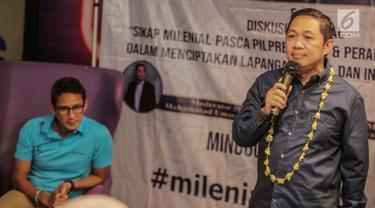Diskusi Milenial Bareng Sandiaga Uno dan Anis Matta