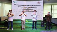 Telkomsel menerapkan pemanfaatan jaringan 5G untuk mendukung pabrik pintar Schneider Electric di Batam. (Foto: Telkomsel).