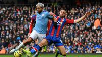 Manchester City ditahan 2-2 Crystal Palace pada laga pekan ke-23 Premier League, di Stadion Etihad, Sabtu (18/1/2020) malam WIB. (AFP/Paul Ellis)