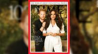 Meghan Markle dan Pangeran Harry menghiasi salah satu sampul majalah TIME yang menampilkan daftar tahunan 100 orang paling berpengaruh. (TIME)