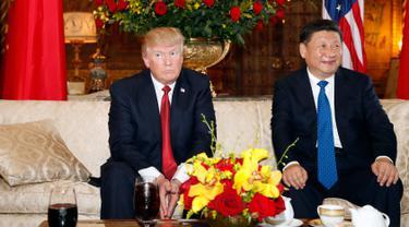 20170406-Donald Trump Bertemu dengan Xi Jinping di Florida-AP