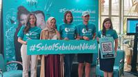 #SehatSebelumNikah merupakan upaya dalam pengentasan kanker serviks di Indonesia. Ini dilakukan guna mengingatkan masyarakat pentingnya vaksinasi HPV guna mencegah kanker serviks dan penyakit terkait HPV (Aditya Eka Prawira/Liputan6.com)